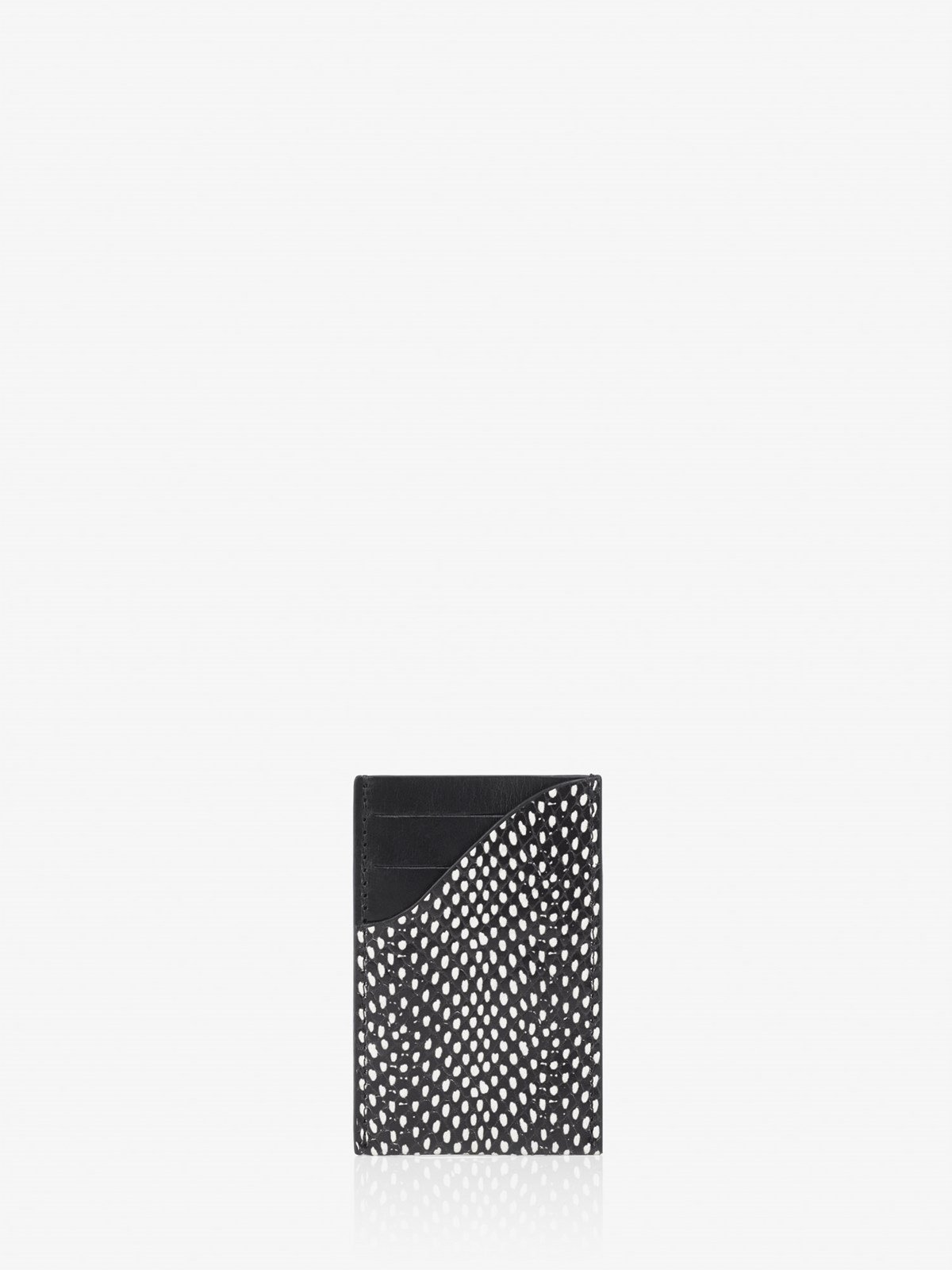 Elba Black White Dot Card holder