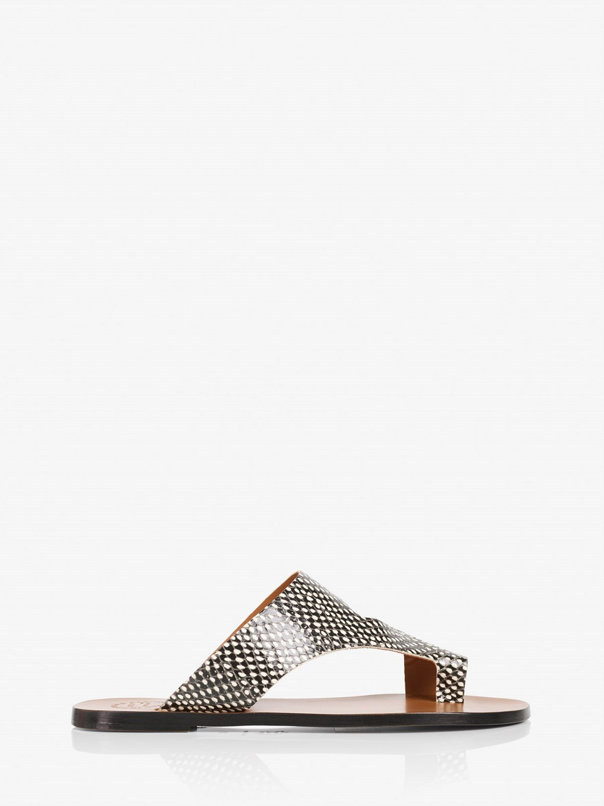 Roma Black White Dot Cutout sandals