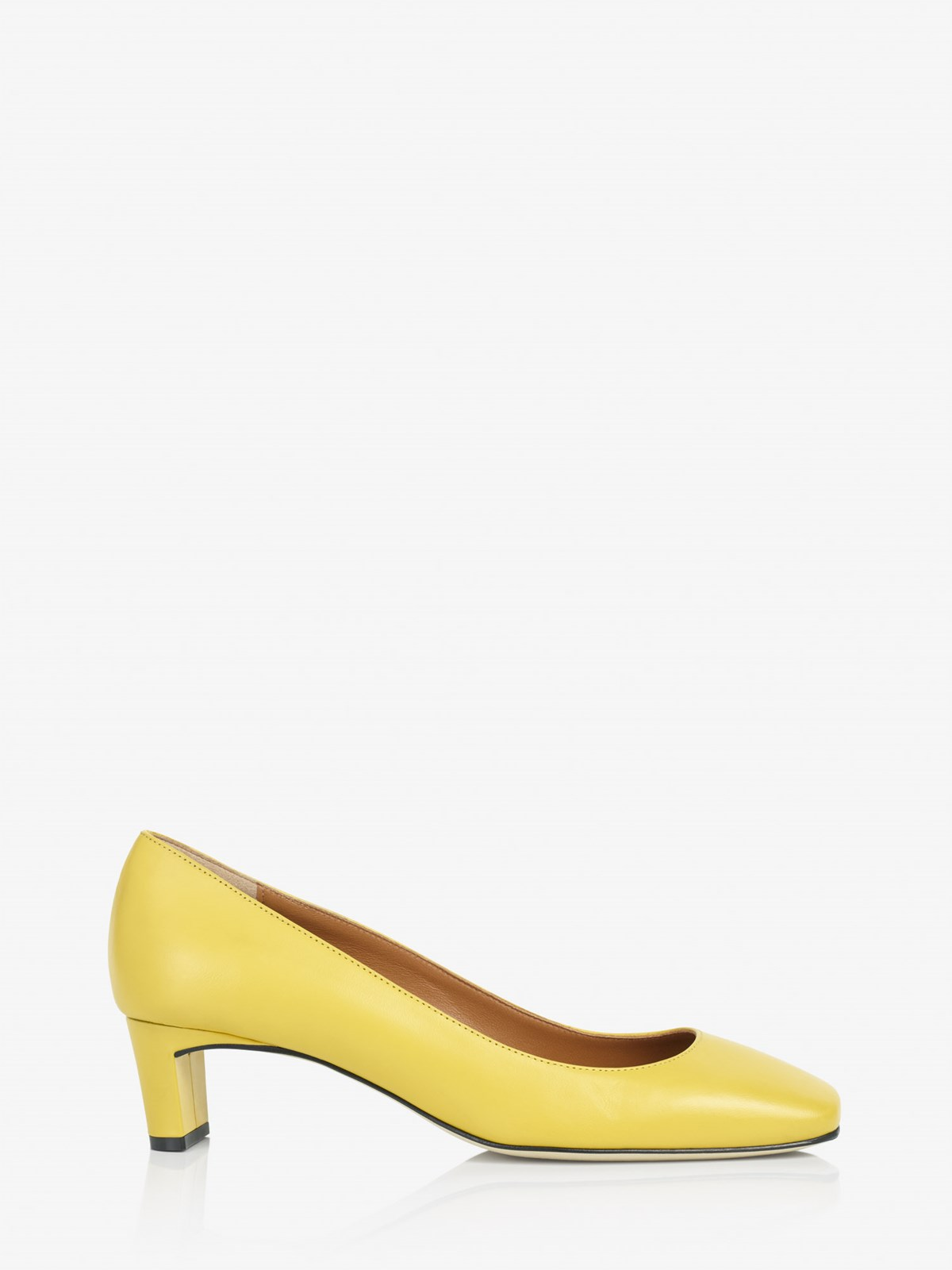 Bari Canary Yellow Pumps
