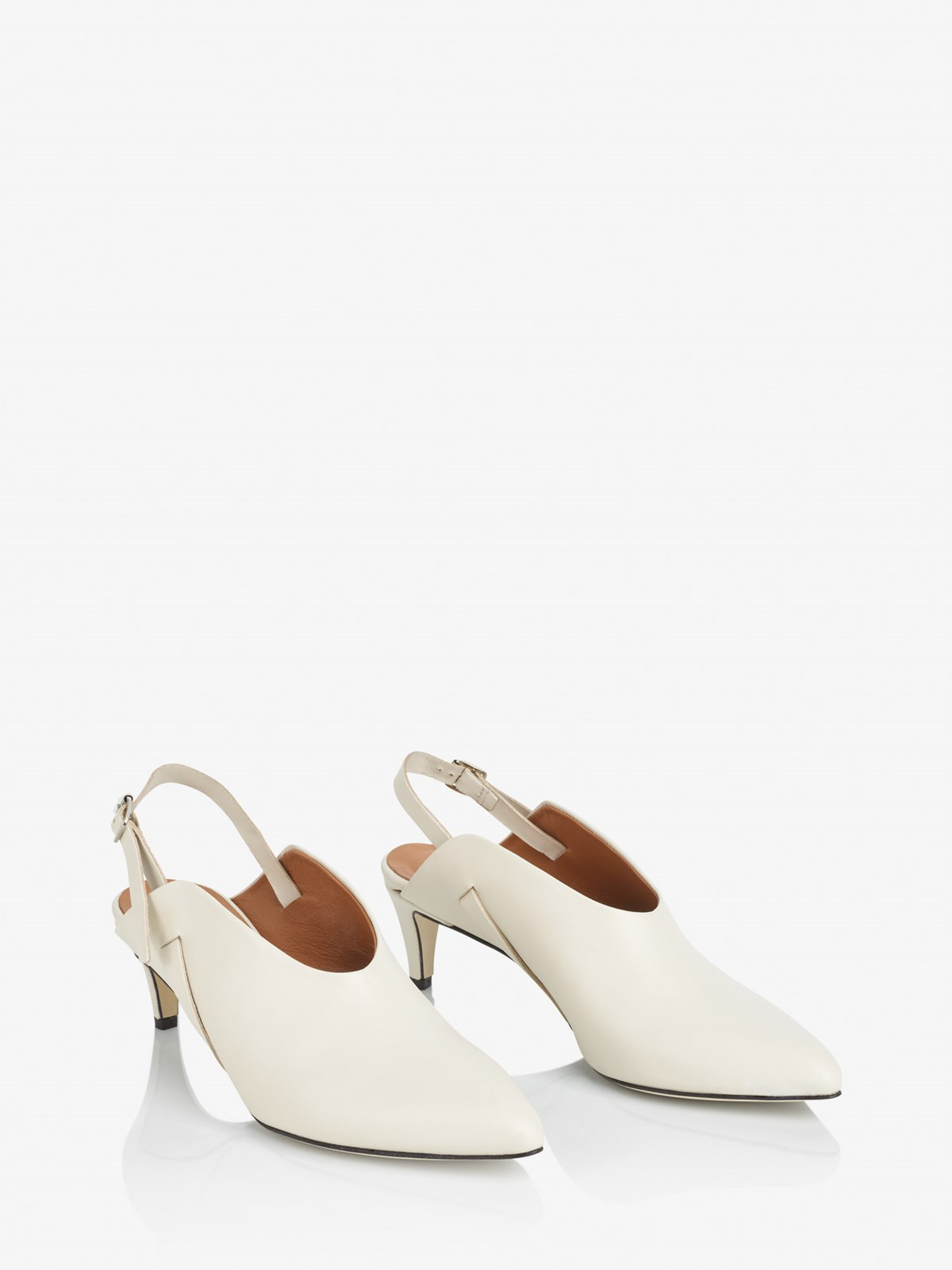 Abra Ice White Slingbacks
