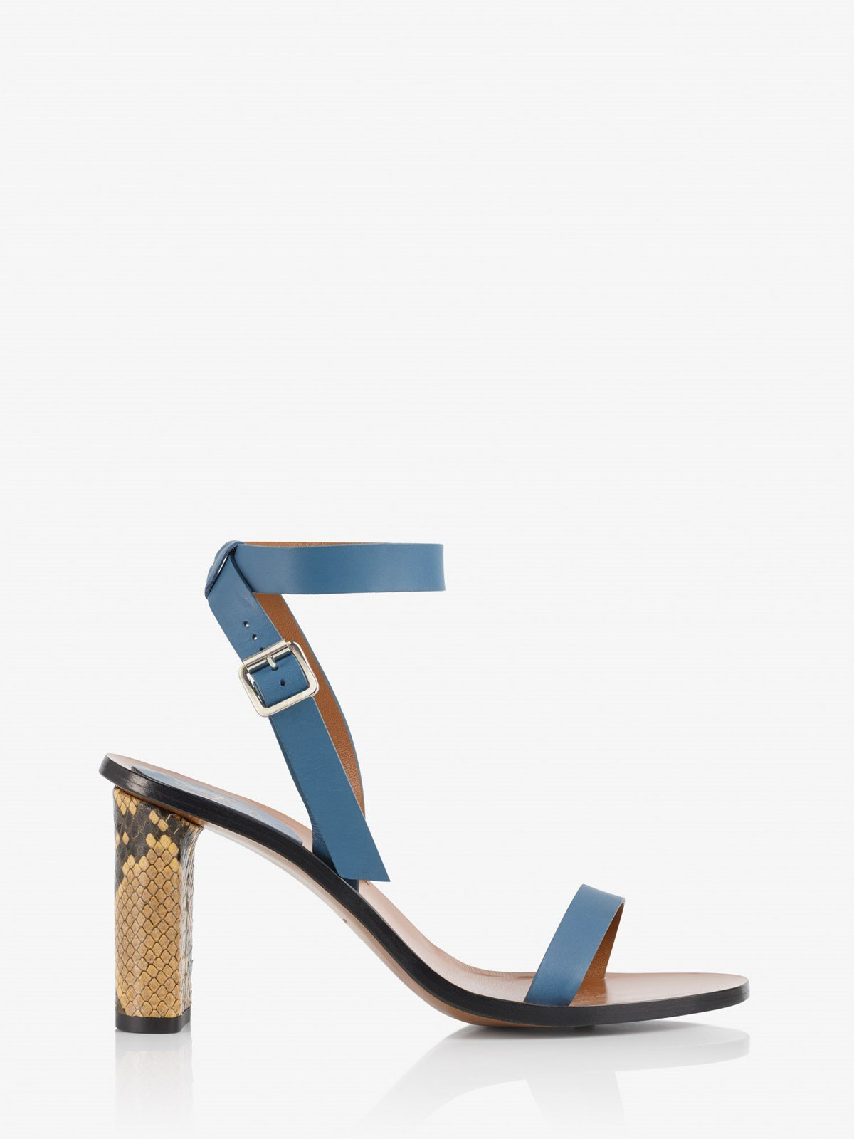 Soave Sky Blue Ankle strap heels