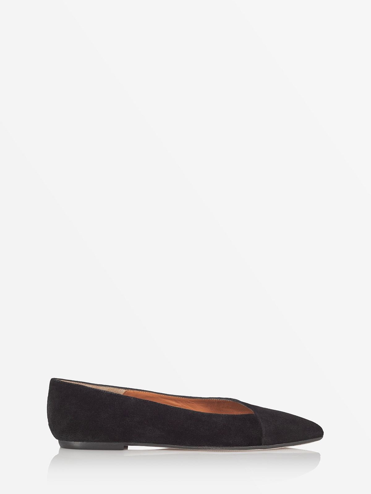Dafne Black Ballerinas