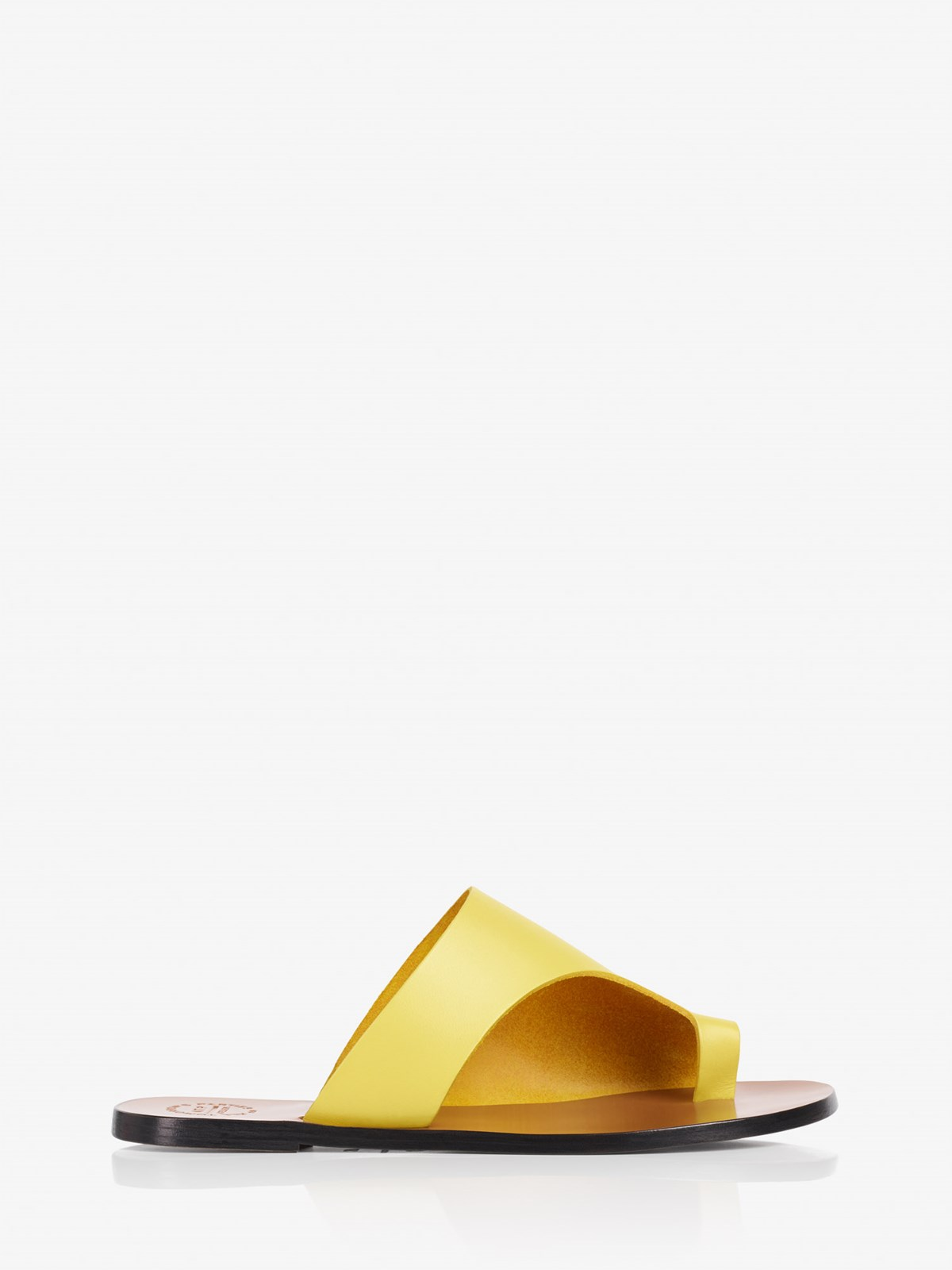 Rosa Canary Yellow Cutout sandals