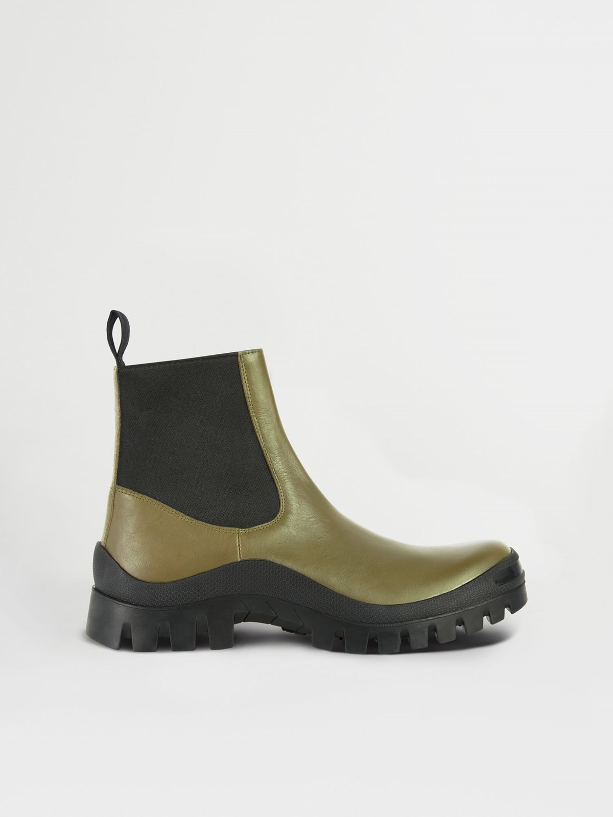 Catania Olive Chunky Boots