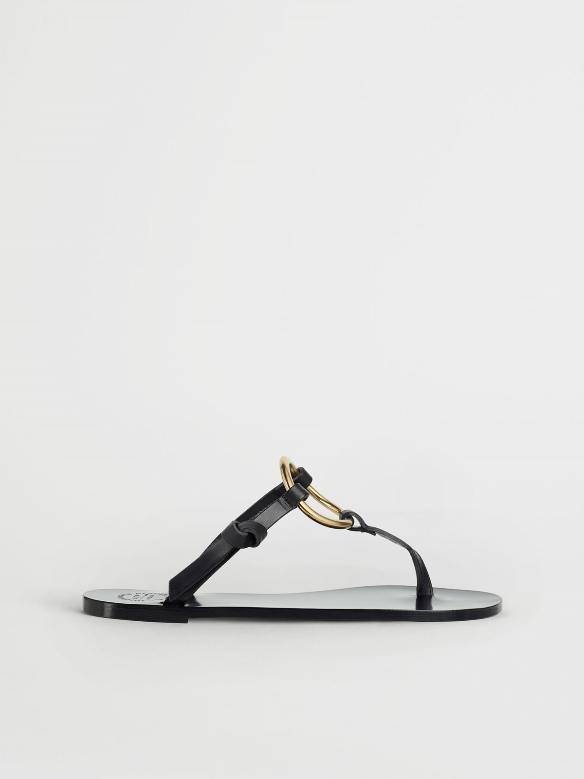 Forna Black Flat sandals