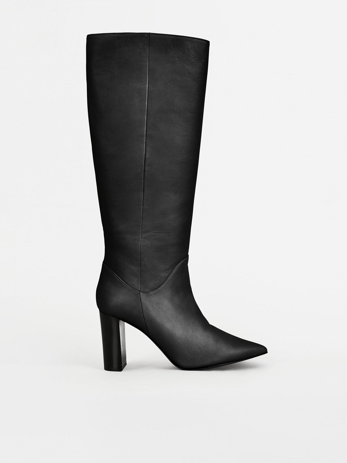 Gaeta Black Knee High Boots