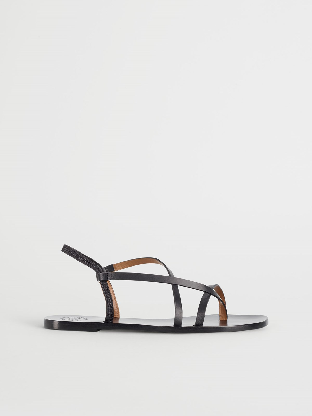 Lizza Black Flat sandals