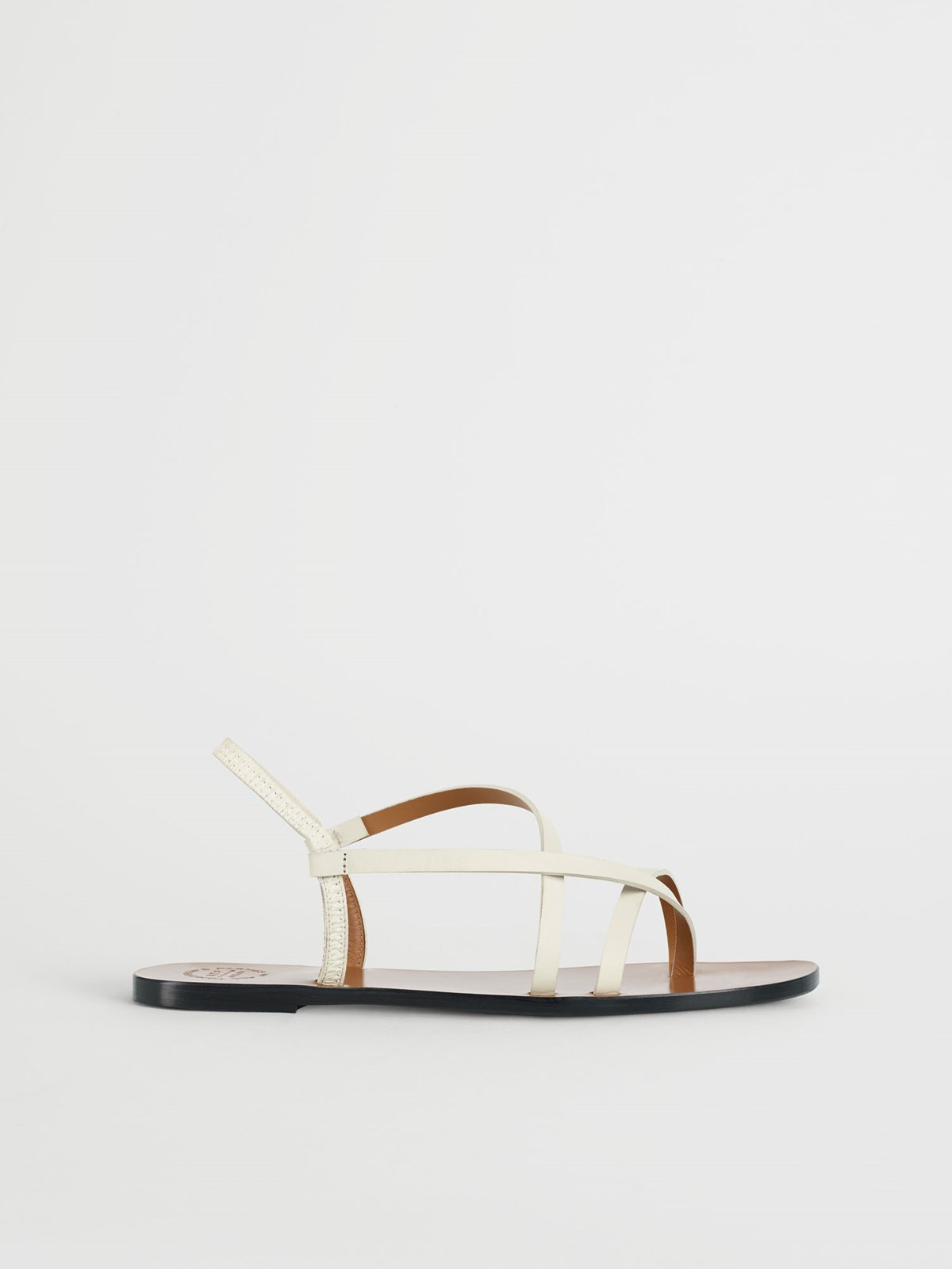 Lizza Ice White Flat sandals