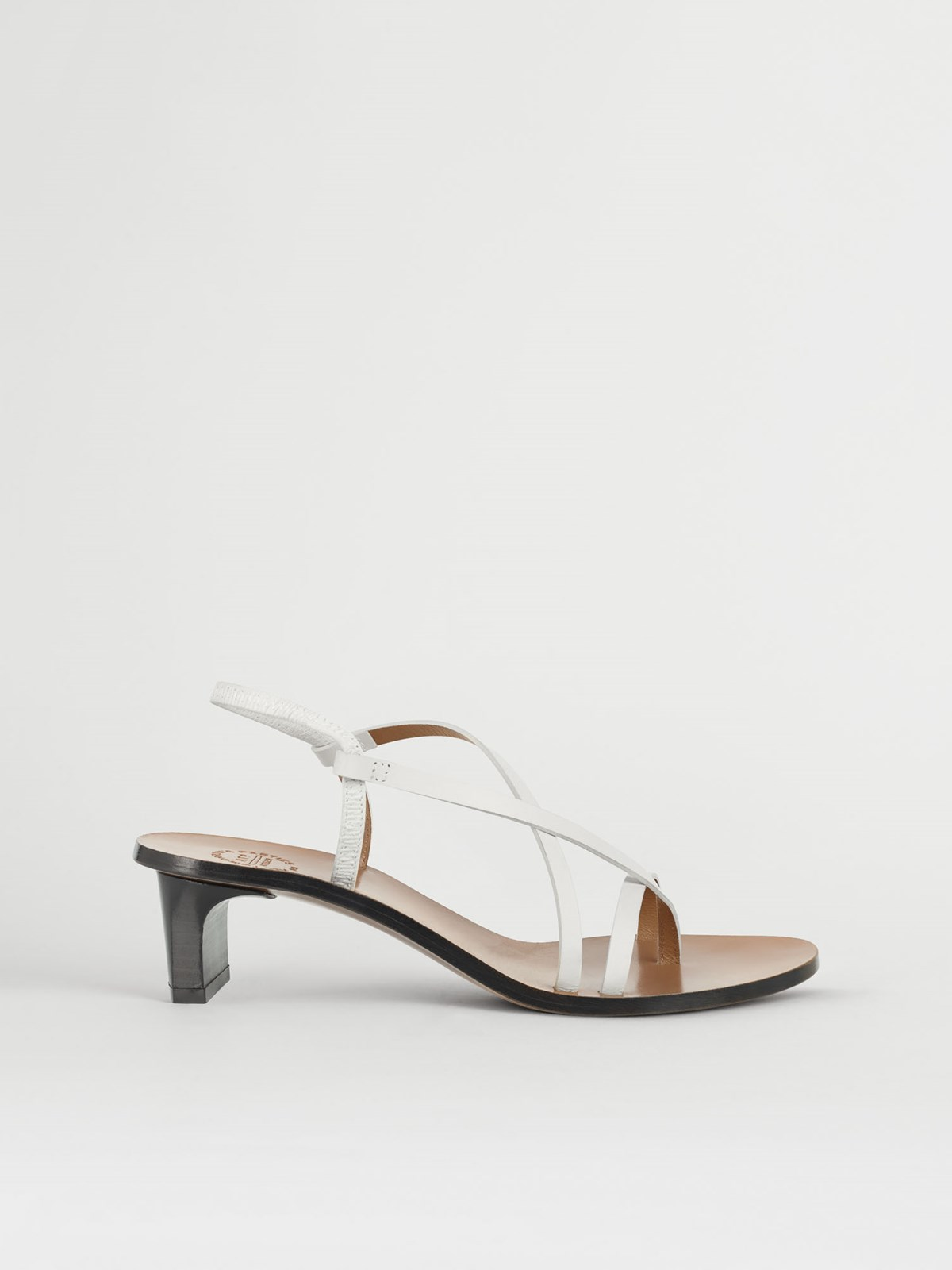 Nashi Ice White Heeled sandals