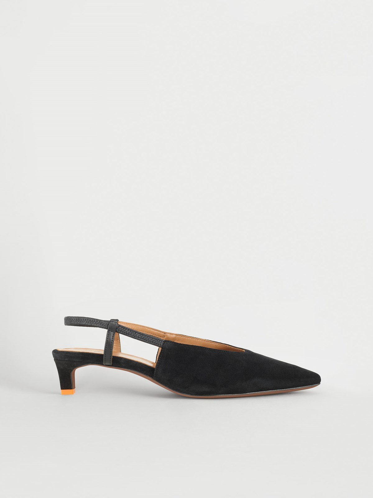 Turi Black Slingbacks