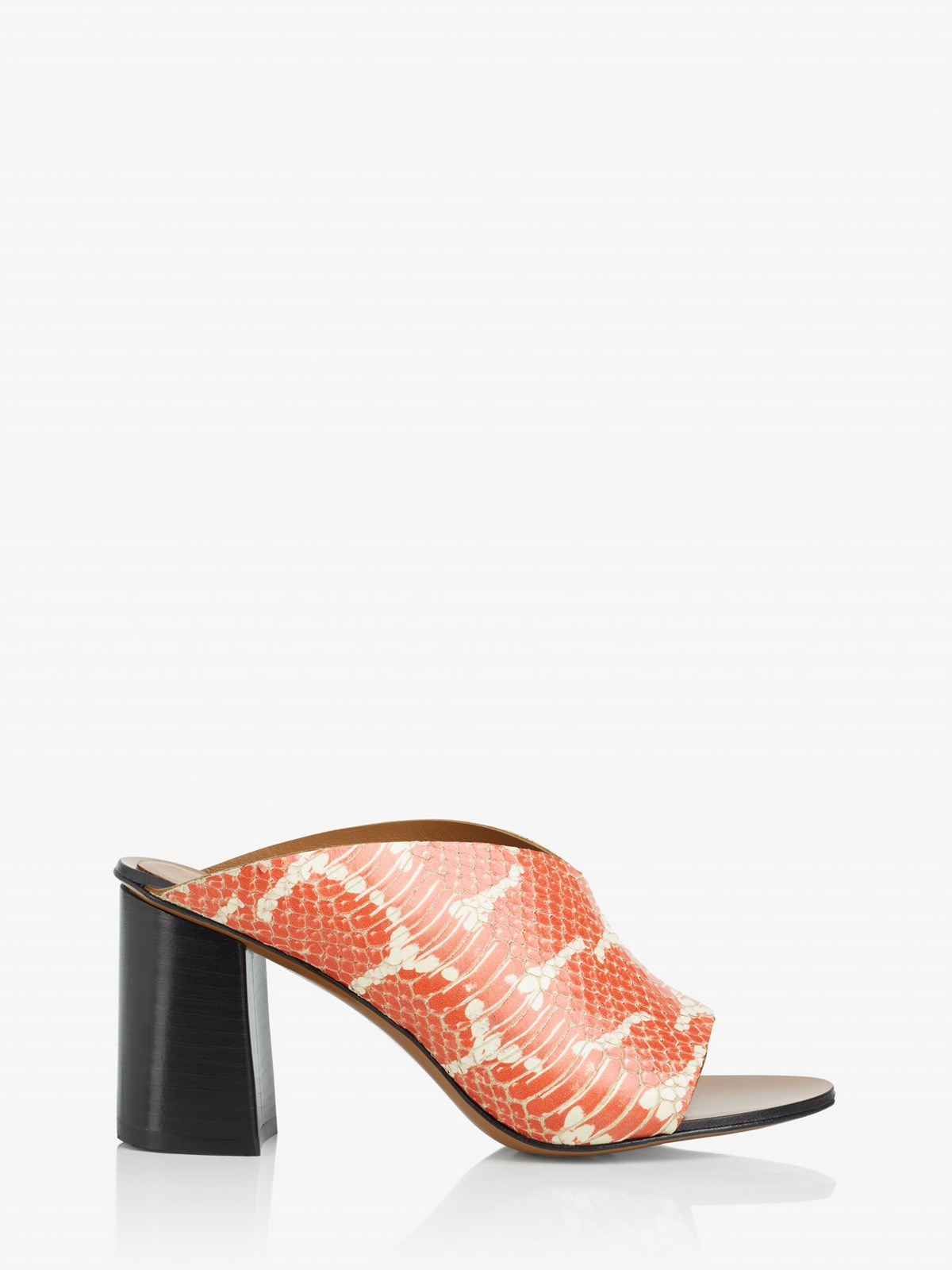 Licola Orange White Heeled sandals