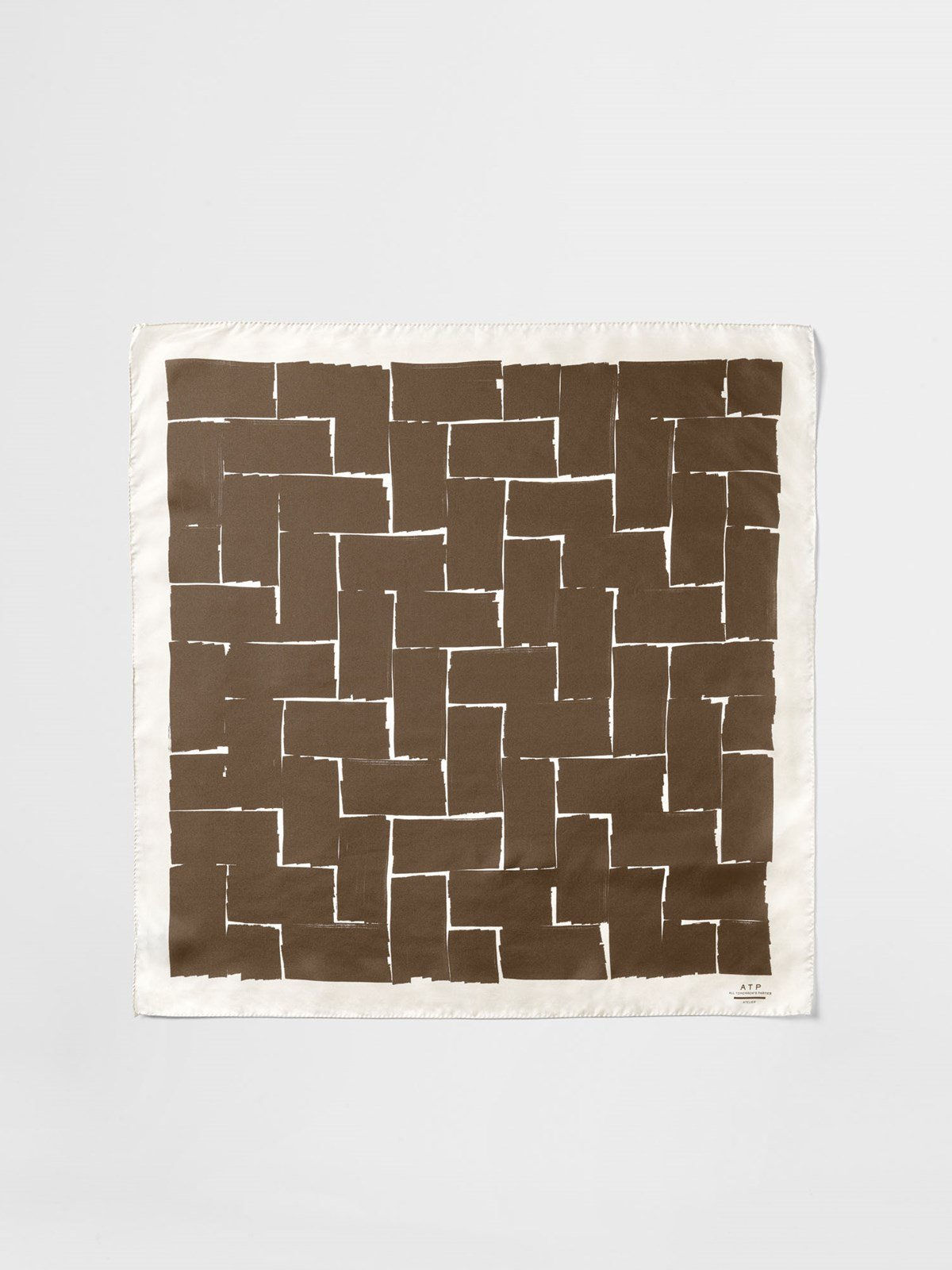 Ortanella Khaki Brown White Scarf