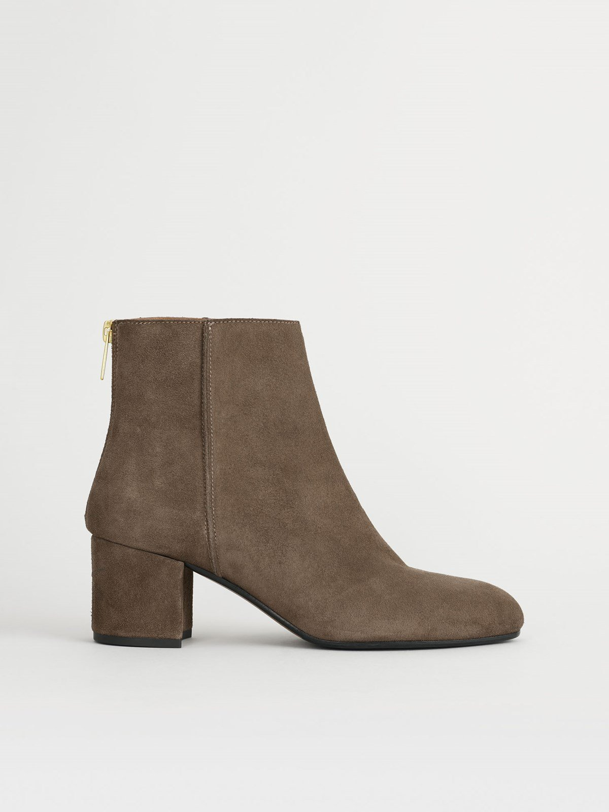 Mei Khaki Brown Ankle boots
