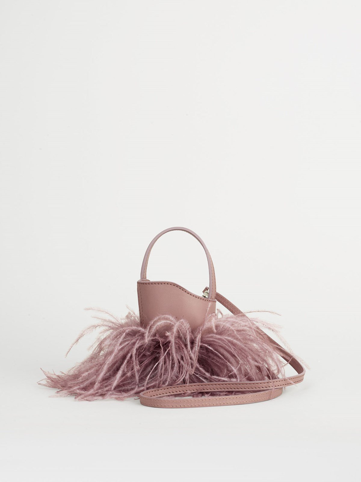 Lilliano Khaki Rose Mini bucket bag