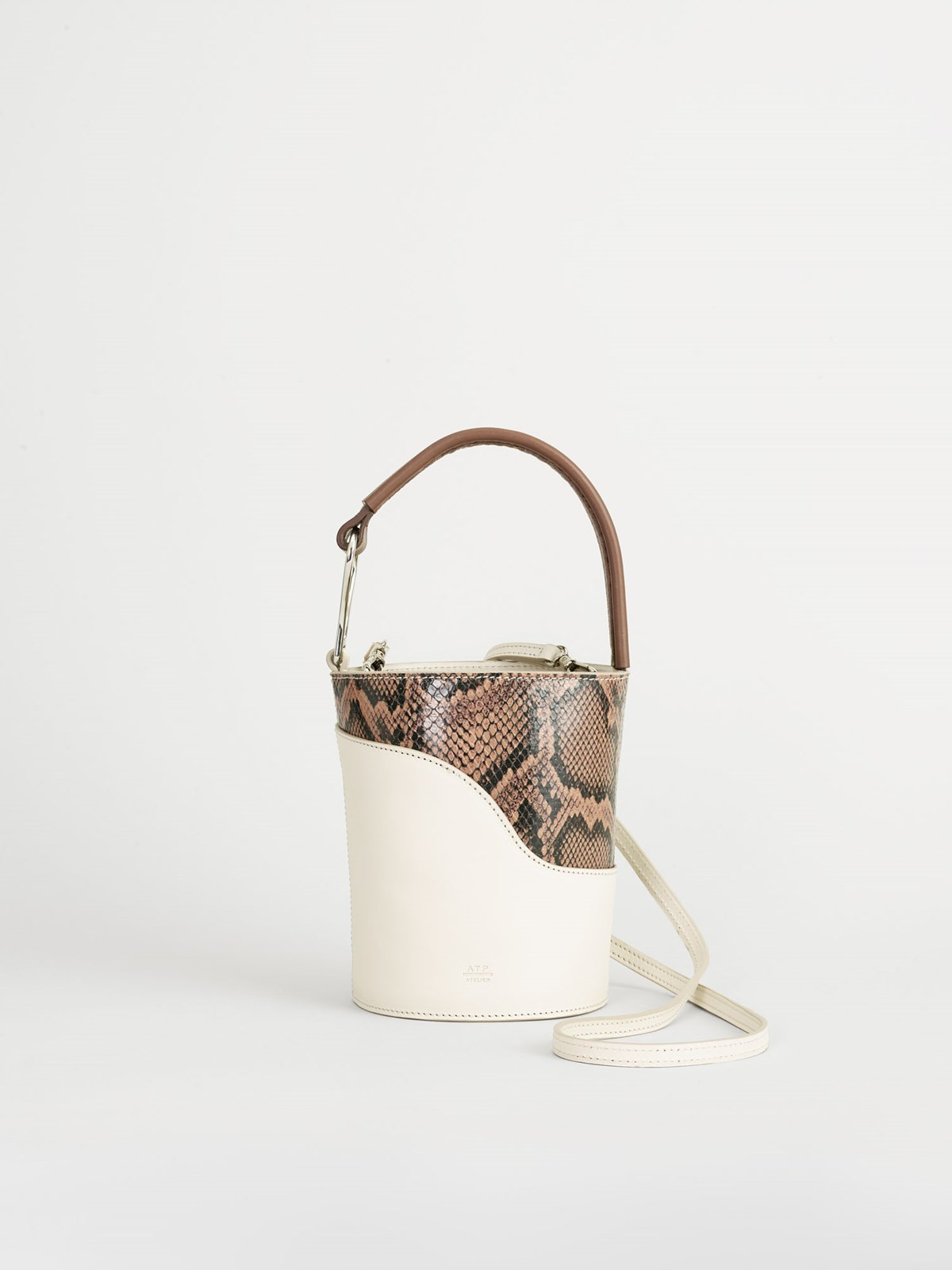 Sava Ice white Small bucket bag