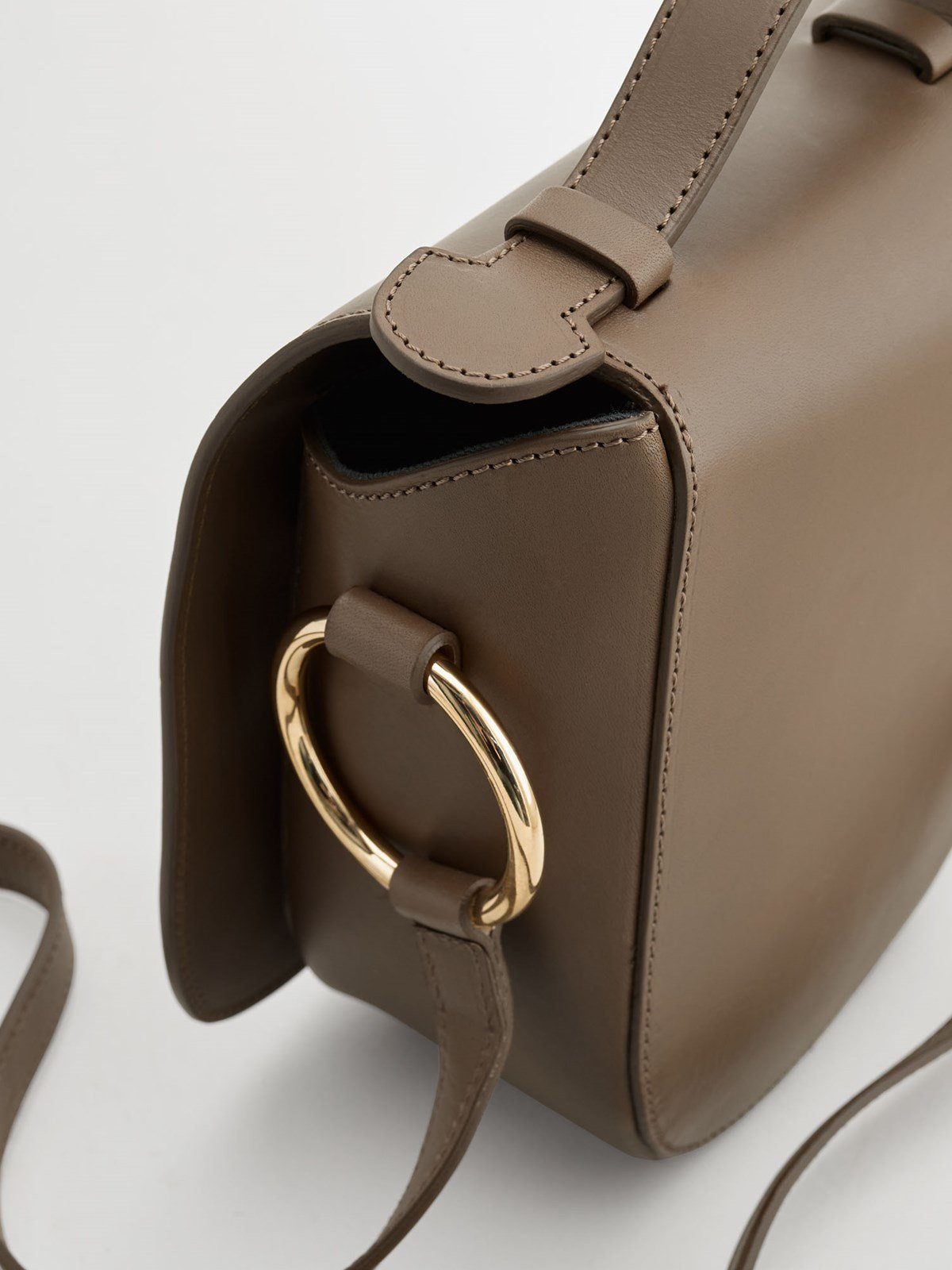 Carrara Khaki Brown Crossbody bag