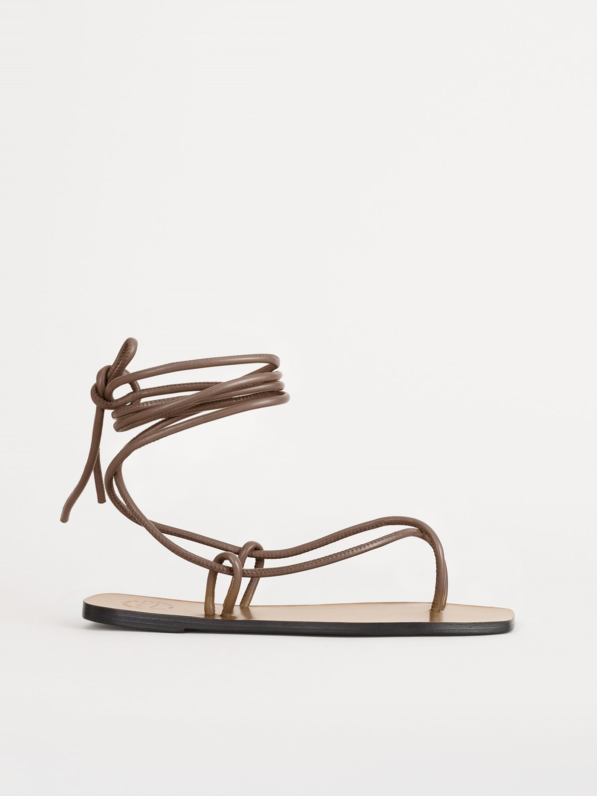 Alezio Khaki Brown Ankle strap sandals