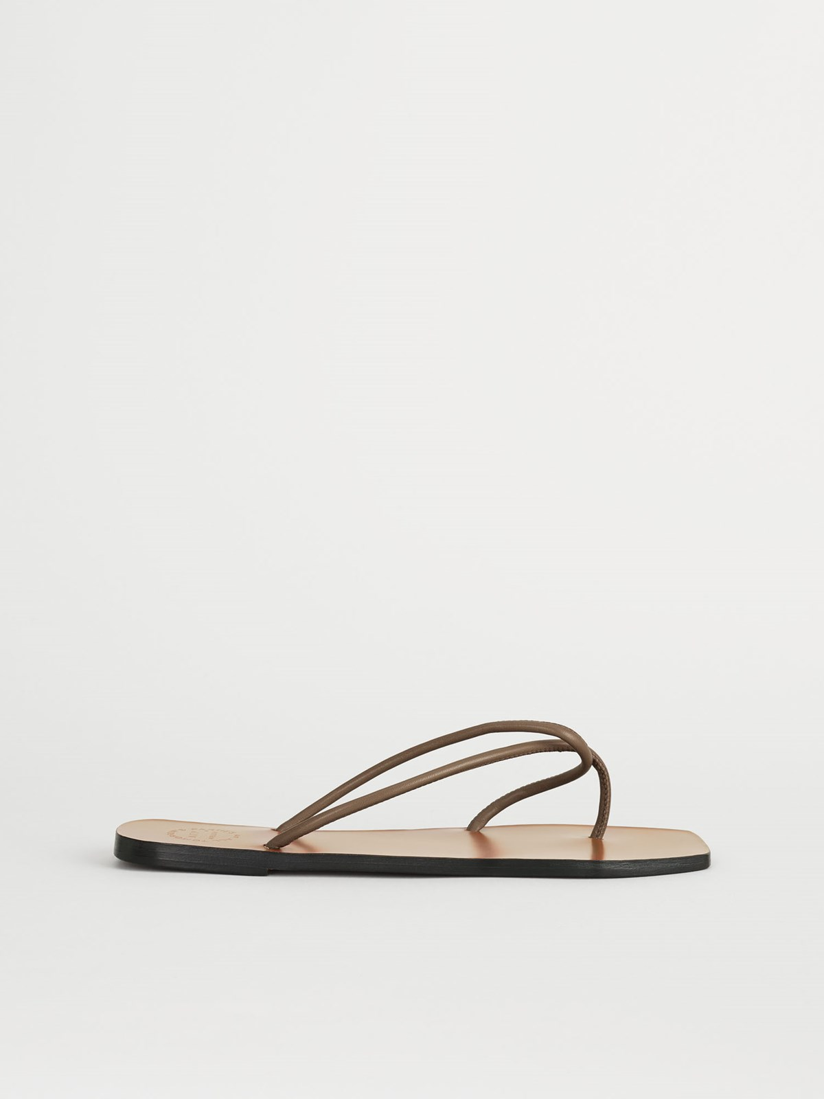 Alessano Khaki Brown Flat Sandals