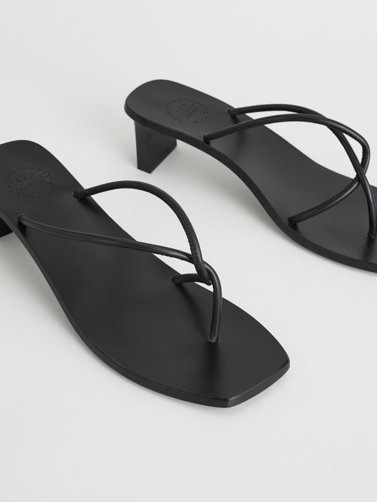Panza Black Heeled sandals