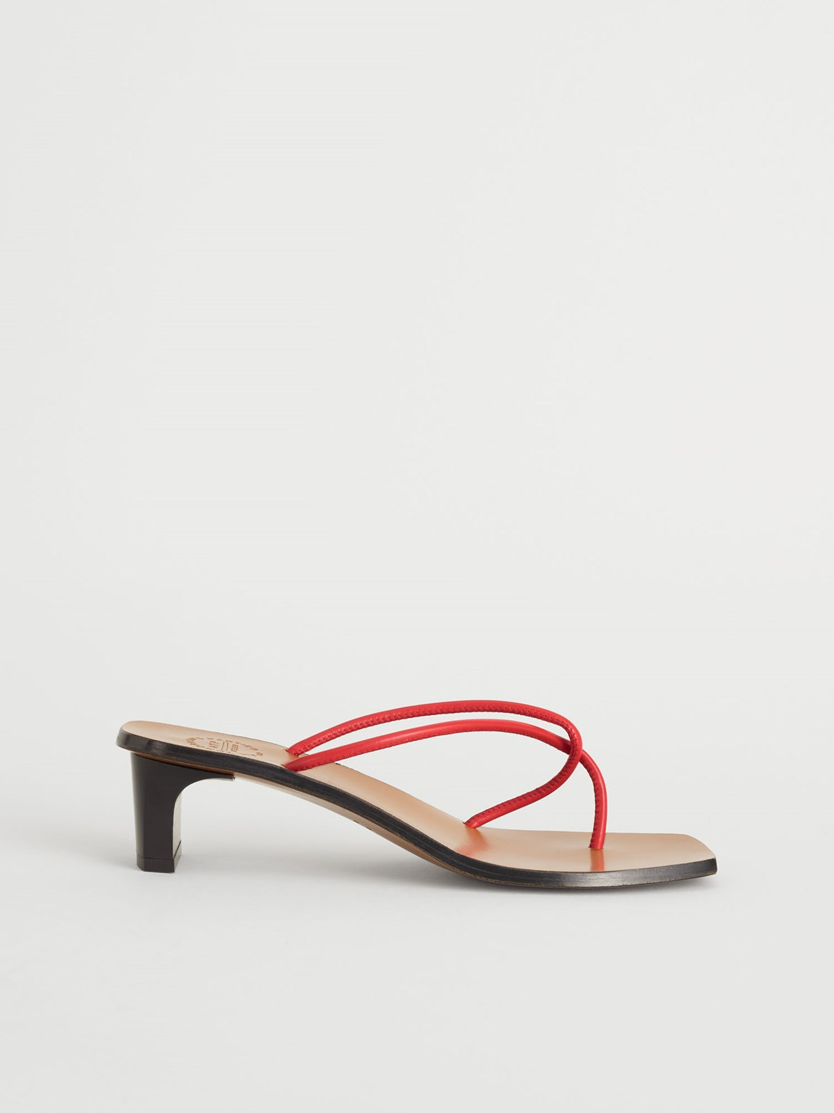 Panza Tomato Red Heeled sandals