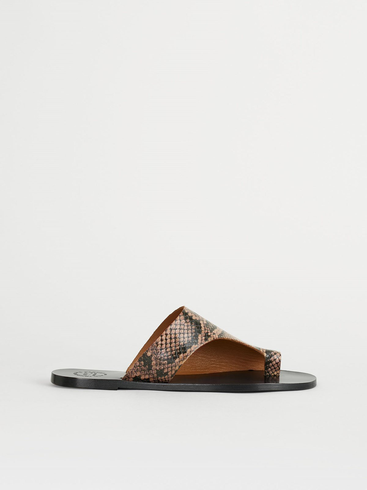 Rosa Brown Cutout sandals