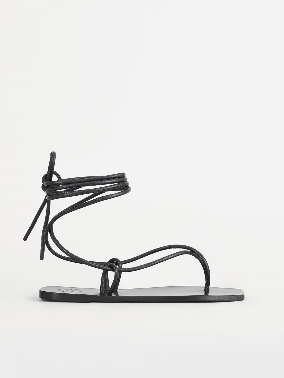 Alezio Black Ankle Strap Sandals