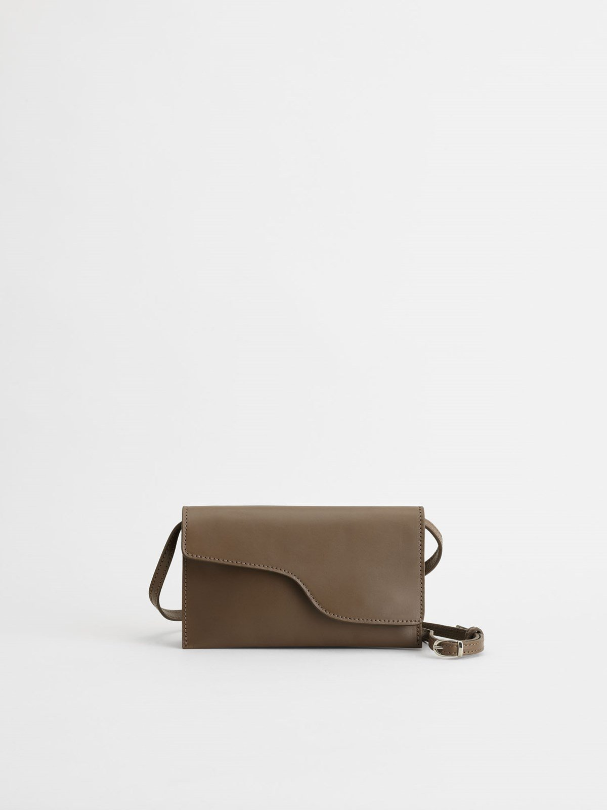 Ulignano Khaki Brown Baguette bag