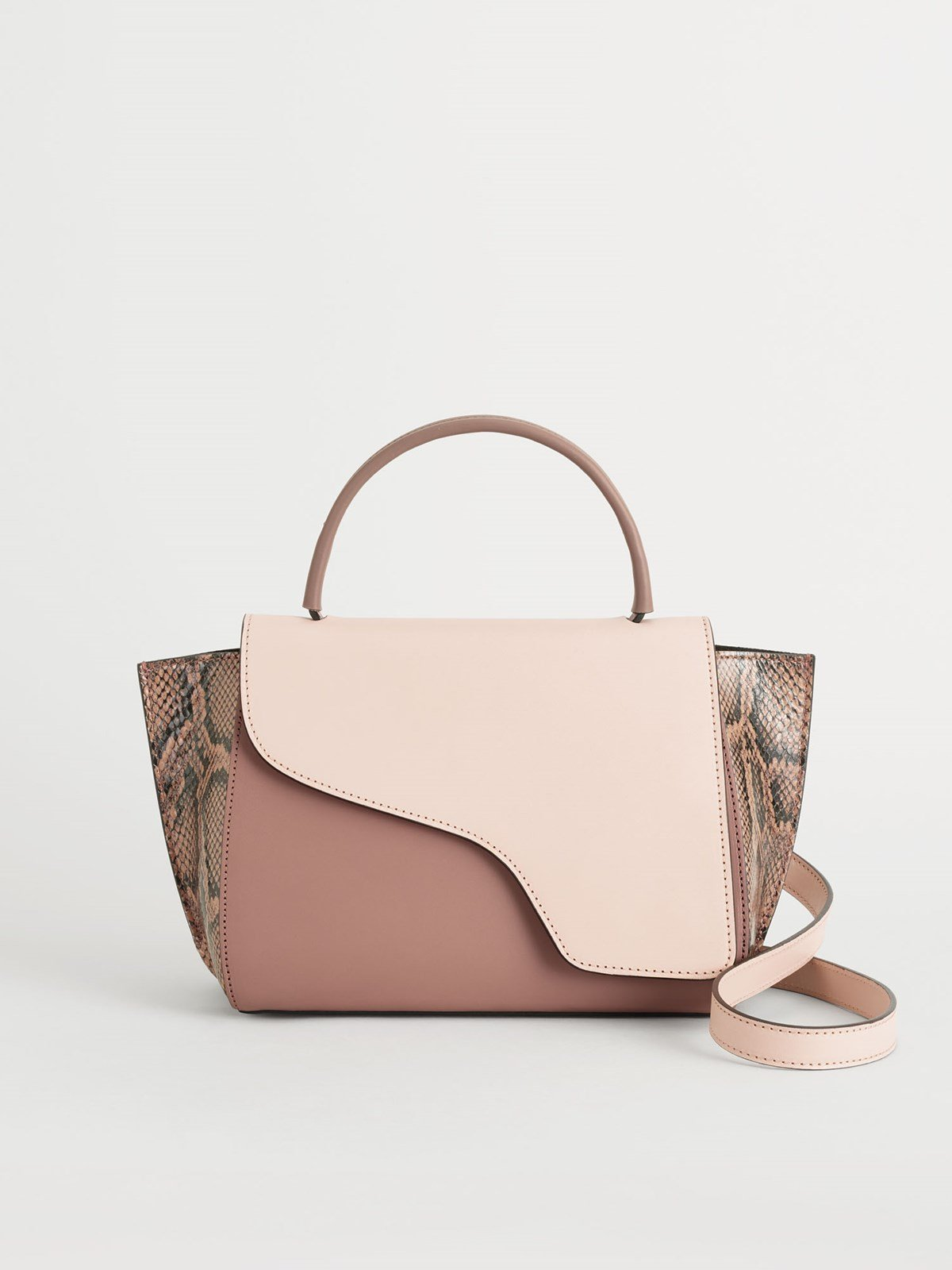 Arezzo Dusty Pink/Khaki Rose/Brown Vacchetta/Printed Snake