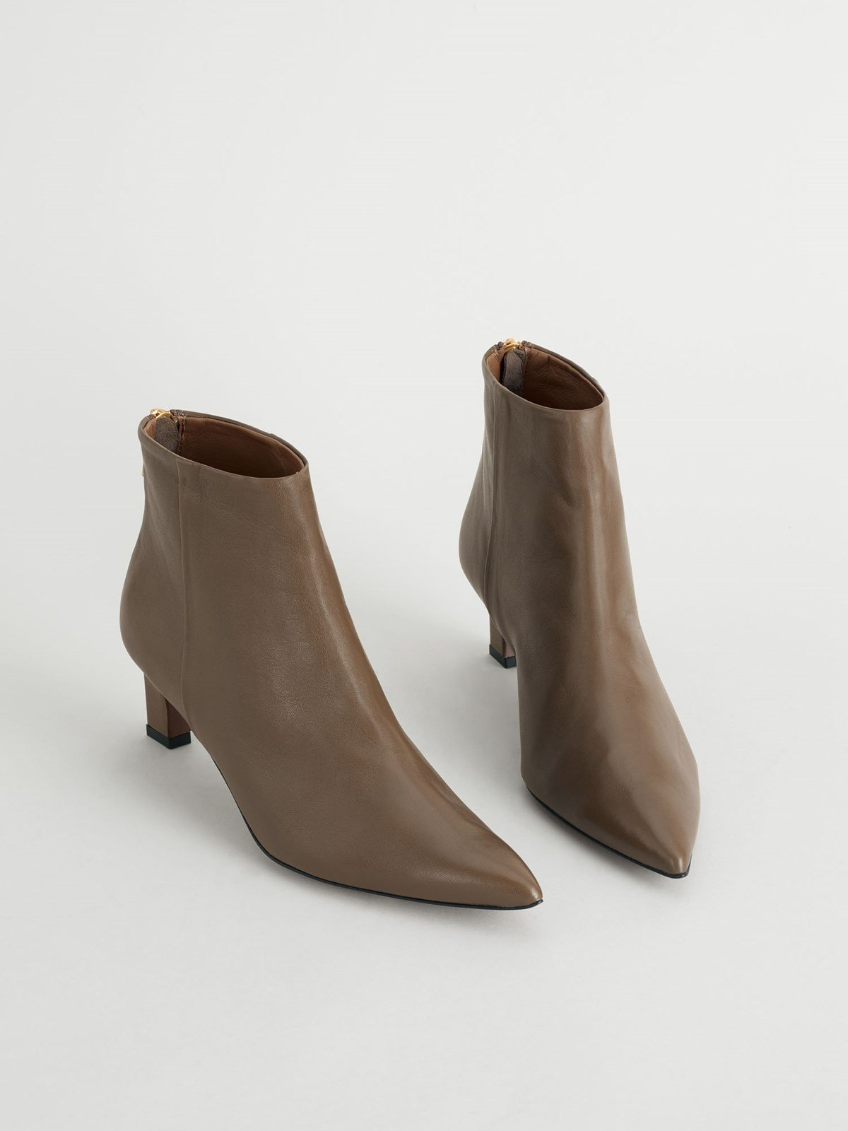 Messina Khaki brown Ankle boots