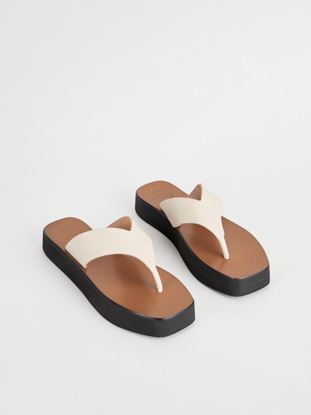 Melitto Ice White Platform sandals