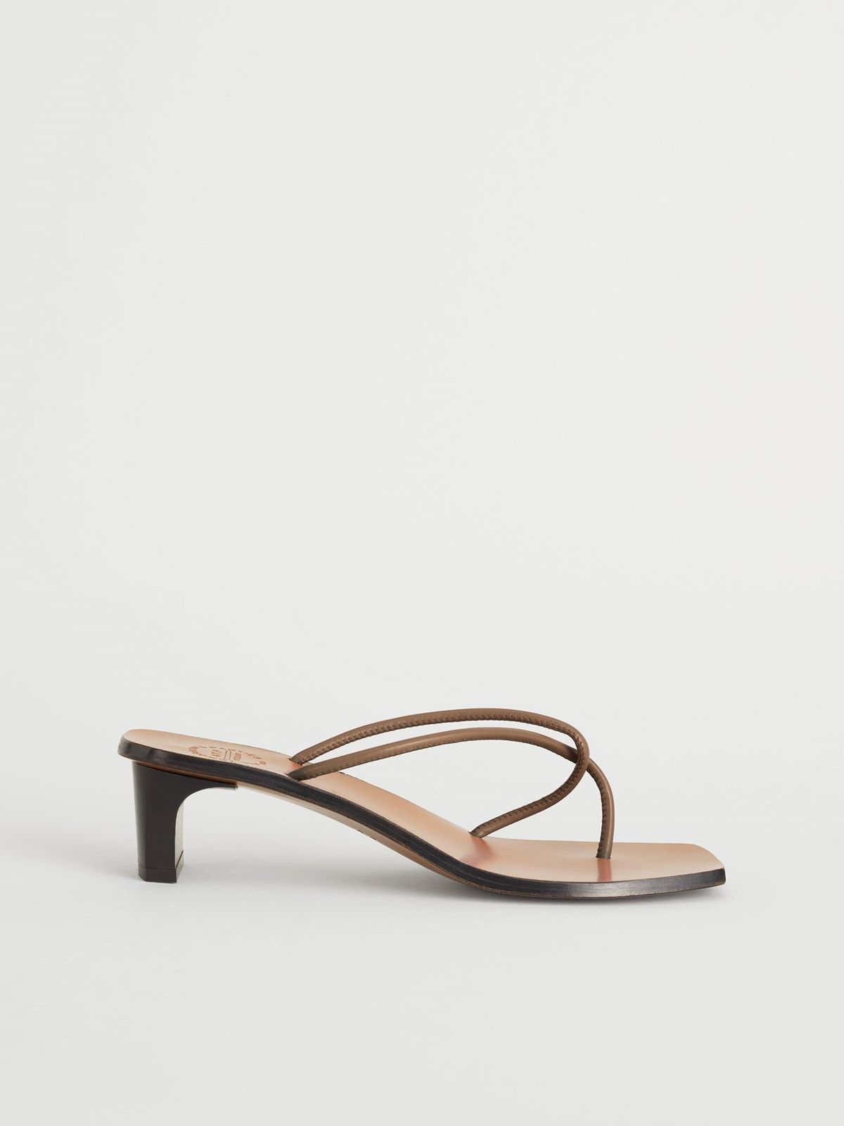 Panza Khaki brown Heeled sandals