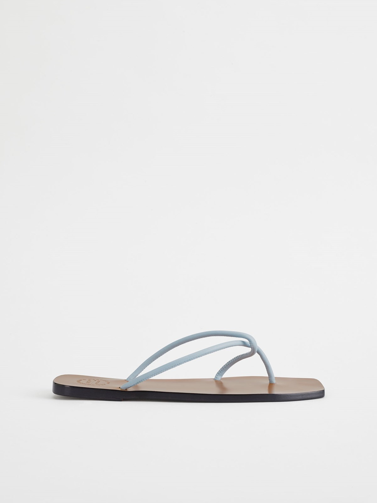 Alessano Light Blue Flat Sandals