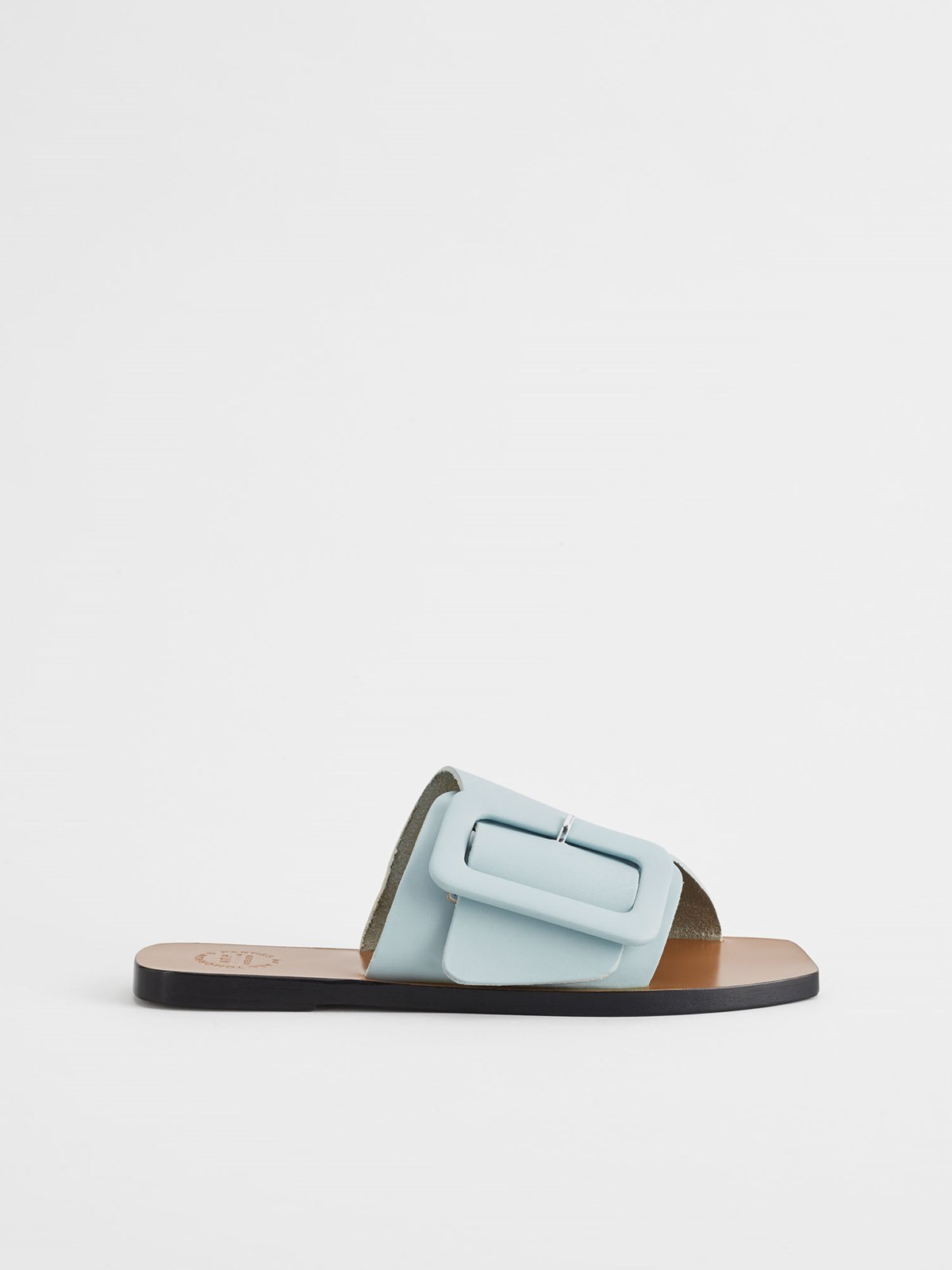 Ceci Light Blue Flat Sandals