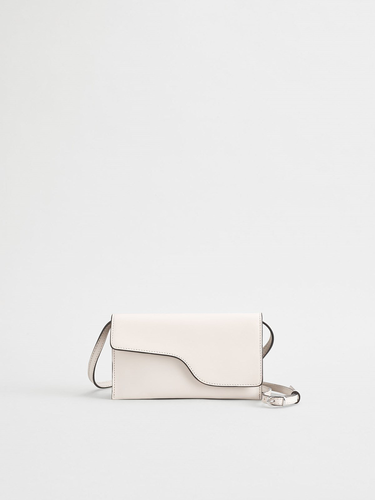 Ulignano Ice White Baguette bag