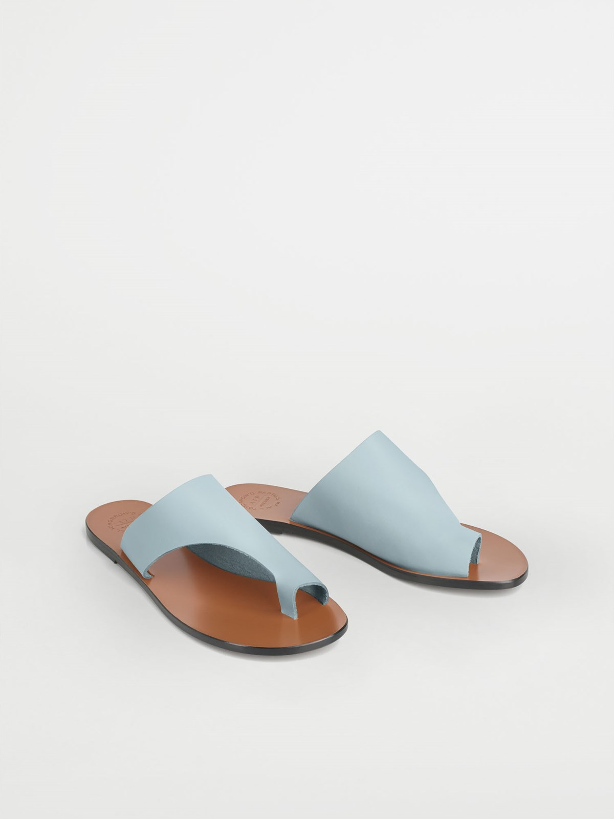 Rosa Light Blue Cutout sandals