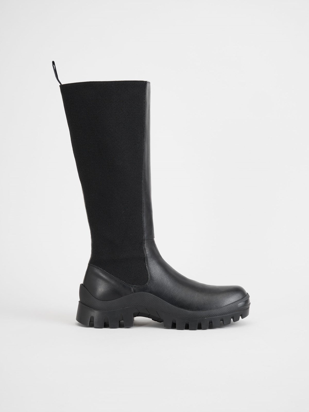 Bitonto Black Knee High Boots