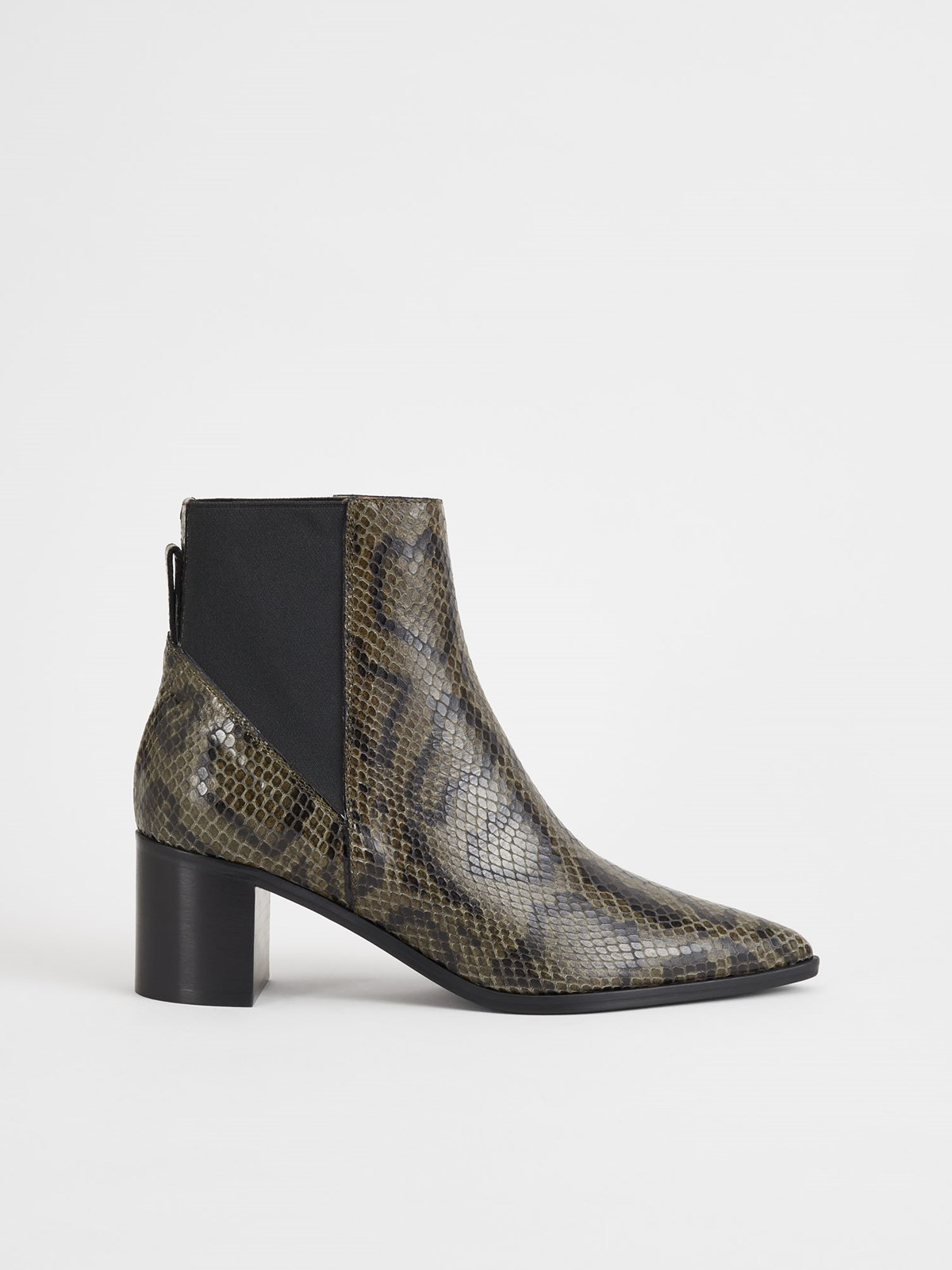 Donaci Dark Green Ankle Boots