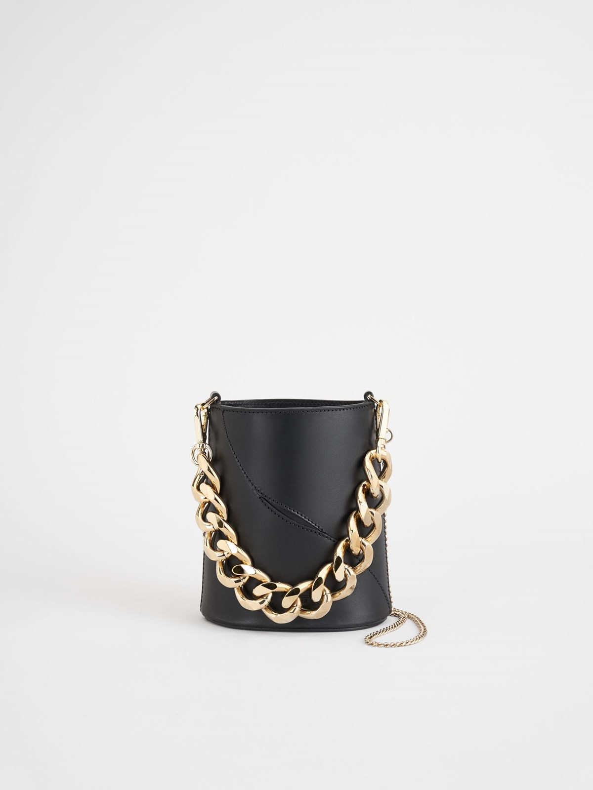 Faeto Black Small Bucket Bag
