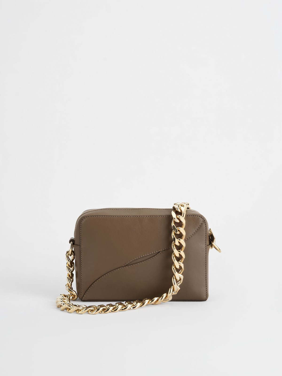 Ginosa Khaki Brown Shoulder bag