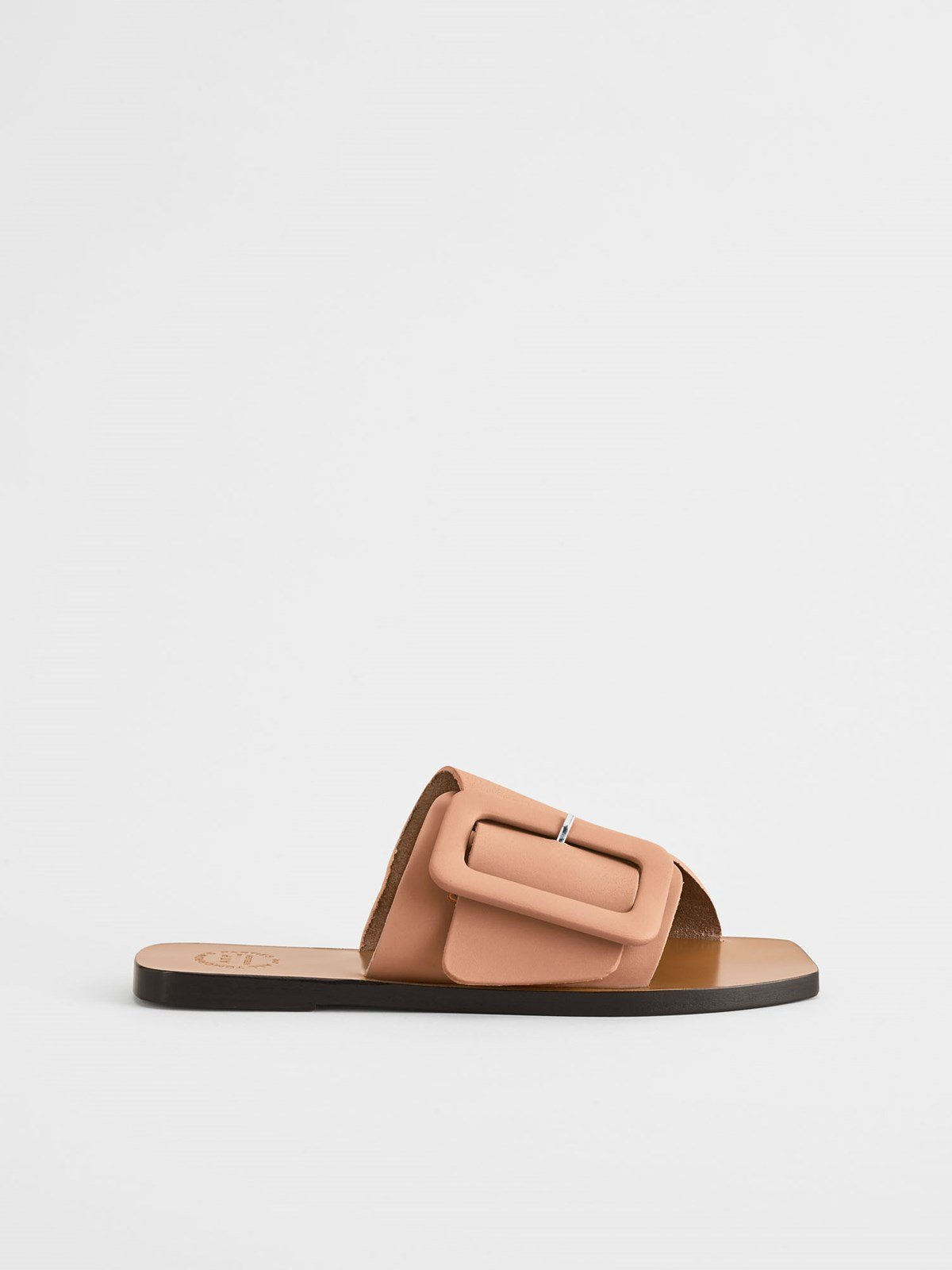 Ceci Honeynut Flat sandals