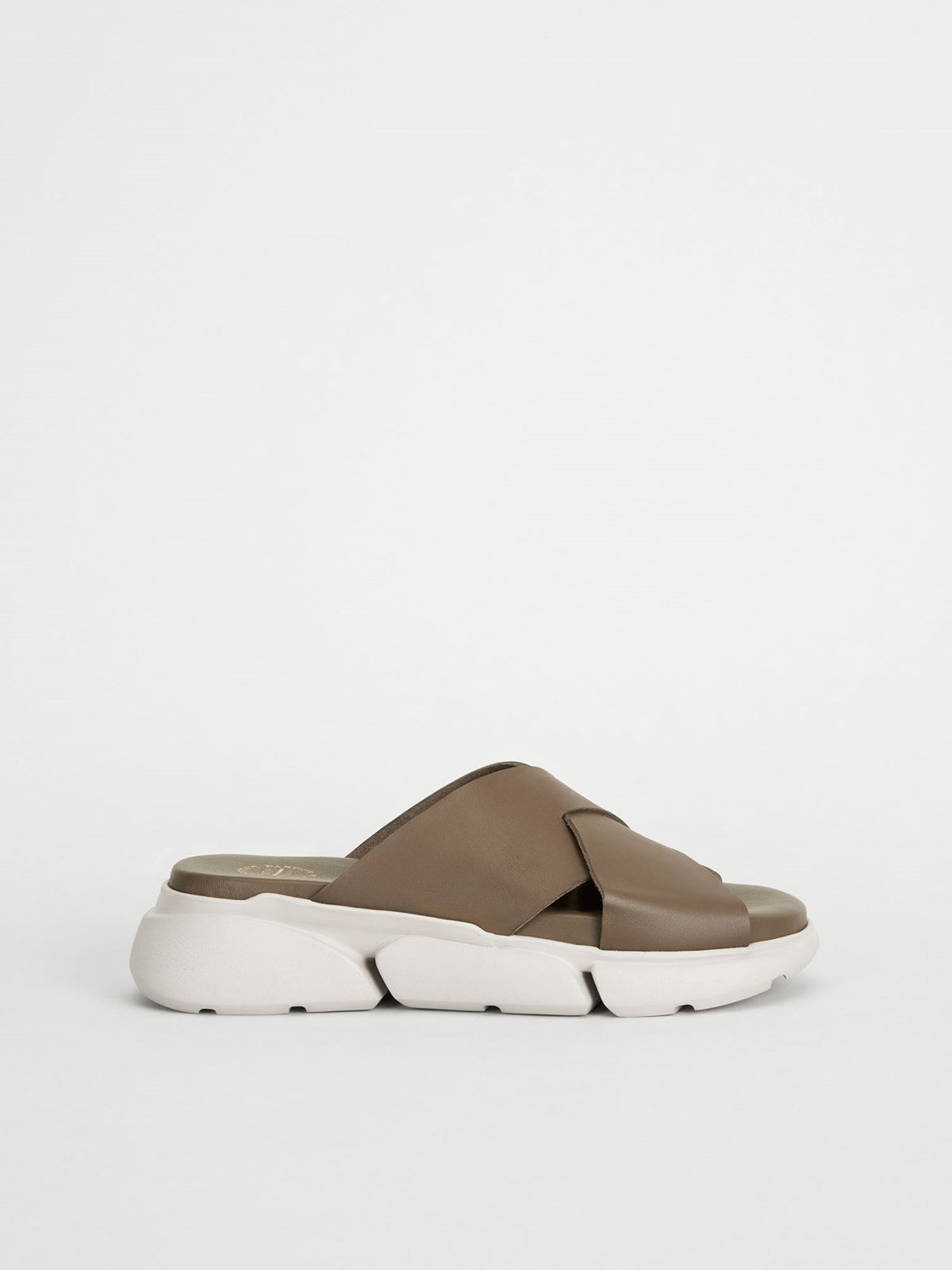 Sovereto Khaki brown Chunky sandals