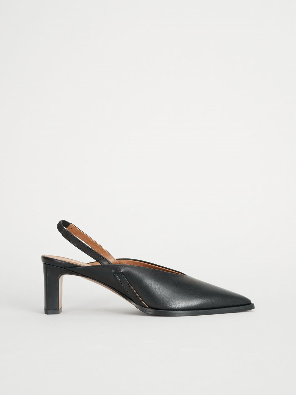 Capoiale Black Slingbacks