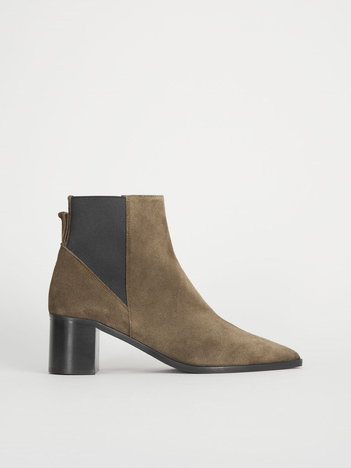 Donaci Khaki Brown Ankle Boots