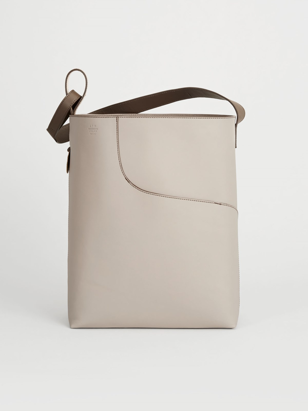 Pienza Warm grey Large tote