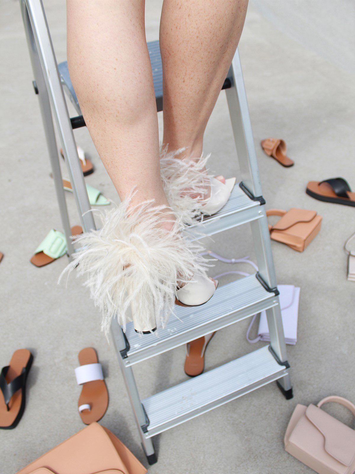 Palagiano Ice White Heeled sandals