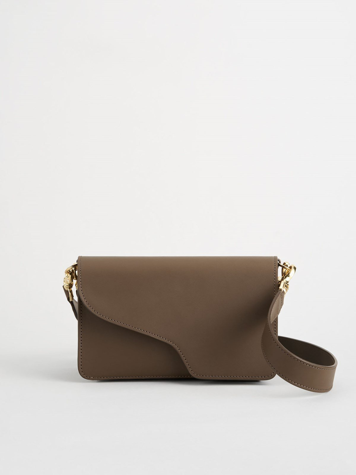Assisi Khaki Brown Baguette Bag
