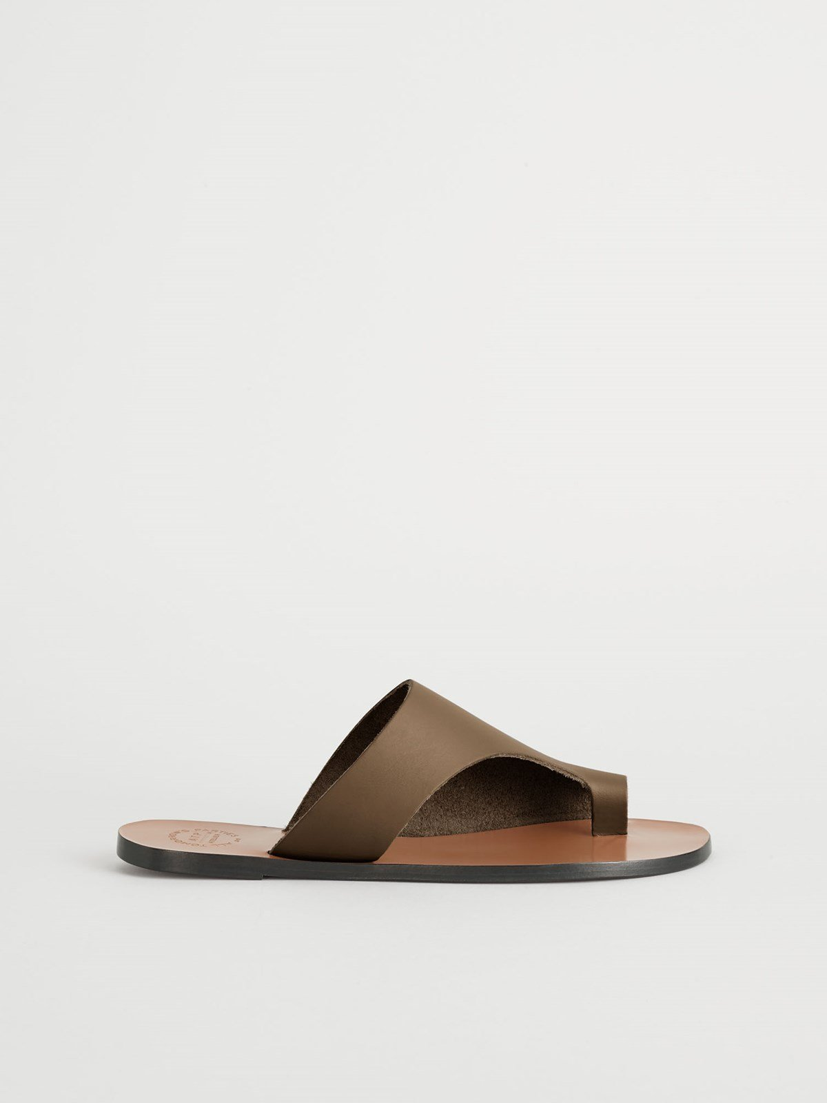Rosa Khaki Brown Cutout sandals