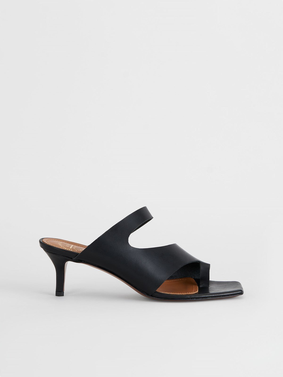 Pittuini Black Cutout heels