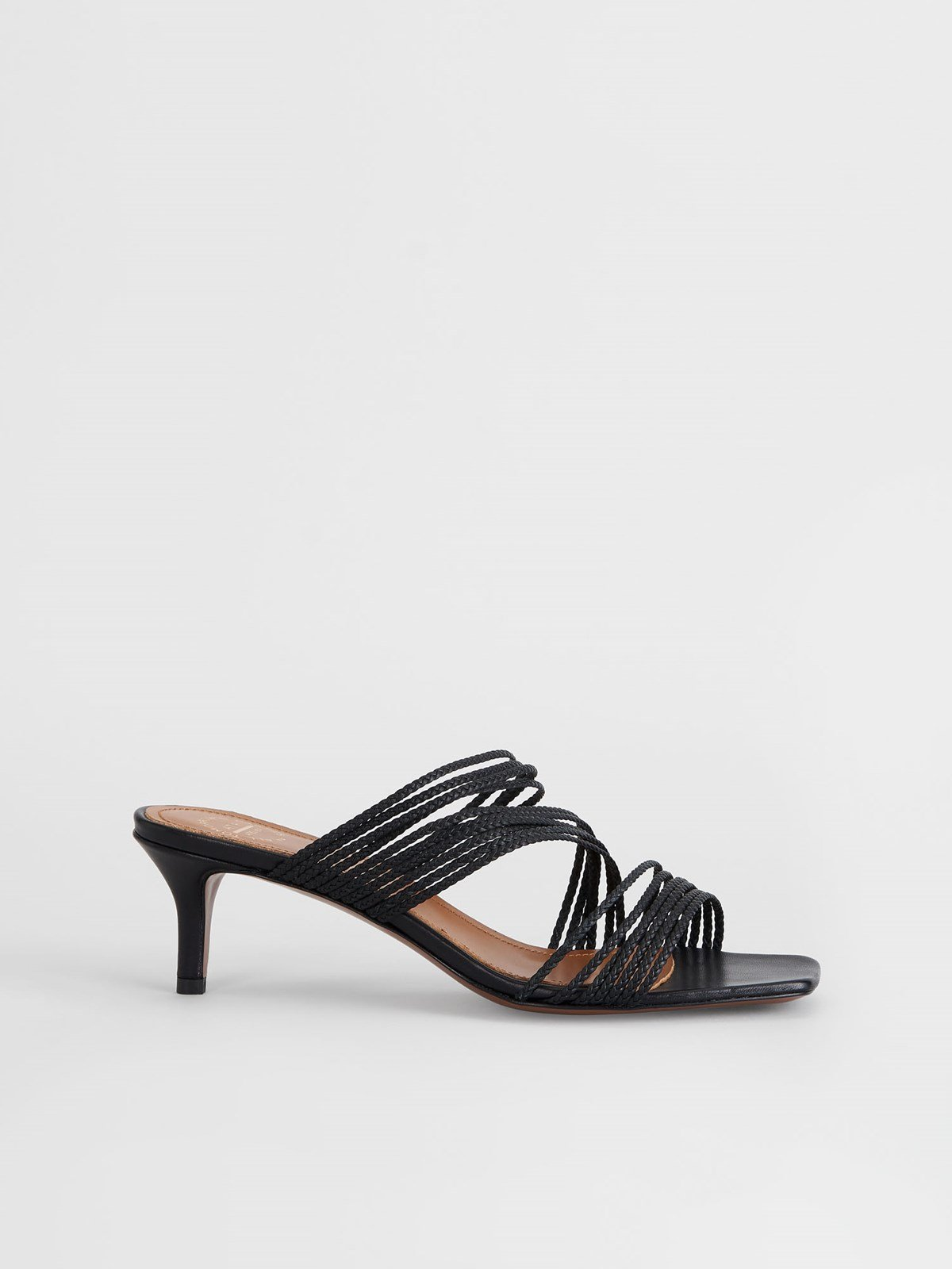 Avetrana Black Heeled sandals