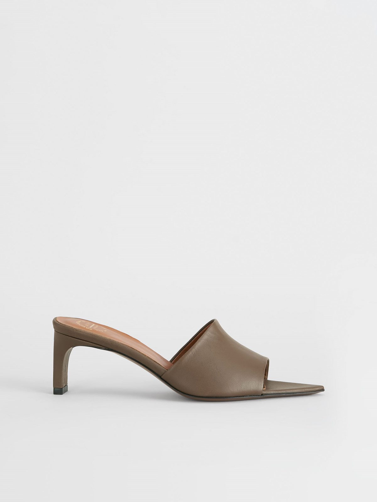 Serranova Khaki Brown Heeled sandals